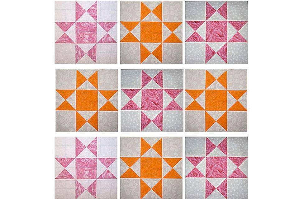 how to make easy quarter square triangle units Quarter Square Triangle Quilt Pattern