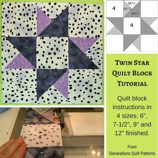 image result for easy 2 or 3 color quilt blocks paper Cozy Easy 3 Color Quilts Inspirations