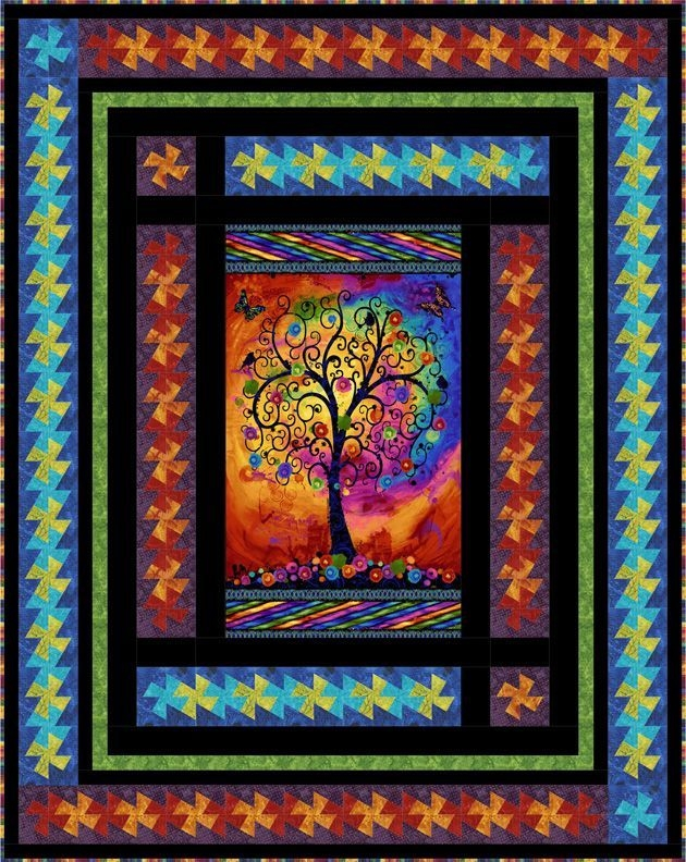 image result for quilting with panels ideas panel quilt Cozy Quilt Patterns Using Fabric Panels Gallery
