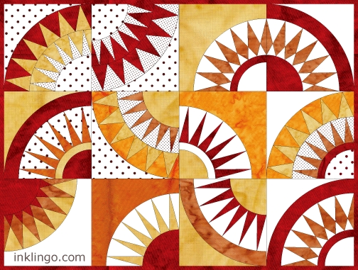 inklingo new york beauty with 12 different block variations 12 New York Beauty Quilt Block Patterns Inspirations