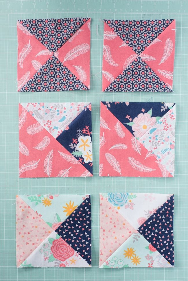 its time to learn how to sew a quarter square triangle Modern Quarter Square Triangle Quilt Inspirations