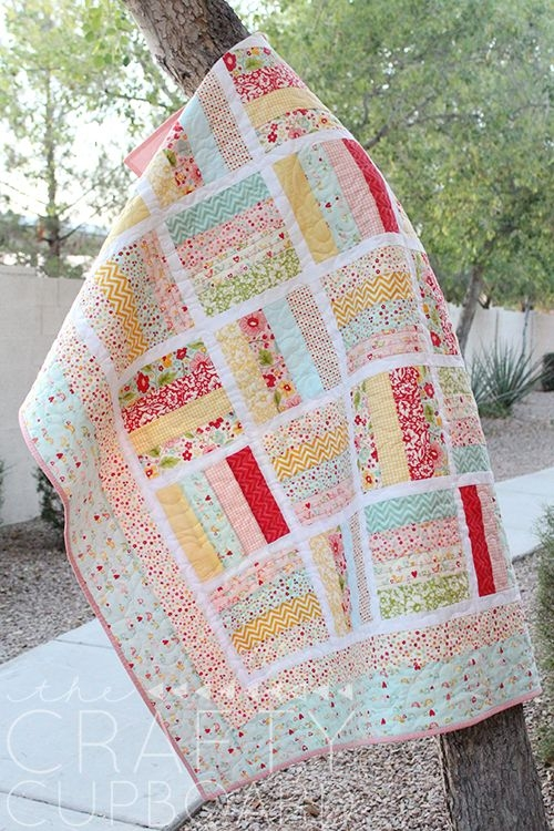jelly roll ba quilt 500750 pixels quilts jelly Elegant Jelly Roll Baby Quilt Ideas Inspirations