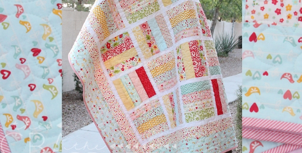 jelly roll ba quilt to make in a day quilting cub Elegant Jelly Roll Baby Quilt Ideas Inspirations