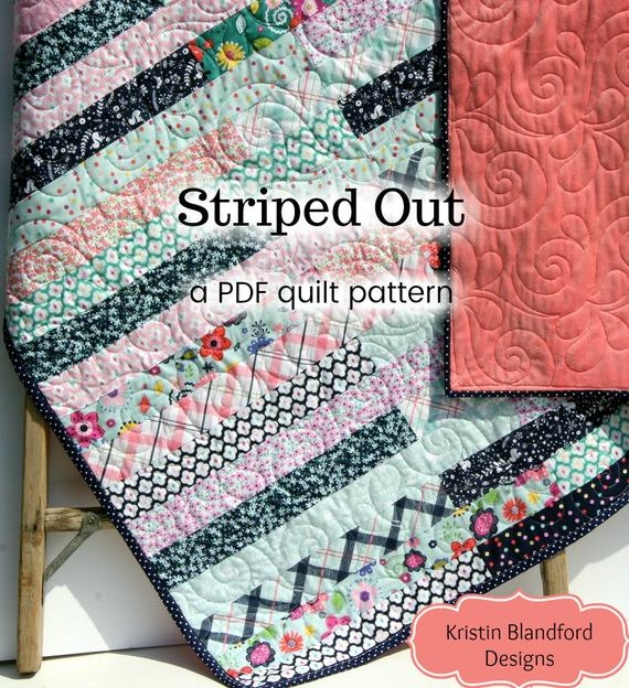jelly roll quilt pattern striped out strip throw easy beginner pattern 25 inch strips lap throw scrappy quilt pattern pdf instant upload Cozy Jelly Rolls Quilt Patterns Inspirations