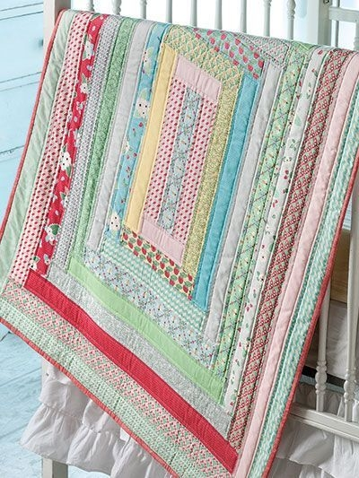 jelly roll strips make this ba quilt a quick finish ba Elegant Jelly Roll Baby Quilt Ideas Inspirations