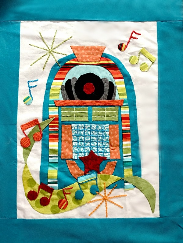 join the retro flash sew along block 5 juke box Modern Flash Sew And Quilt