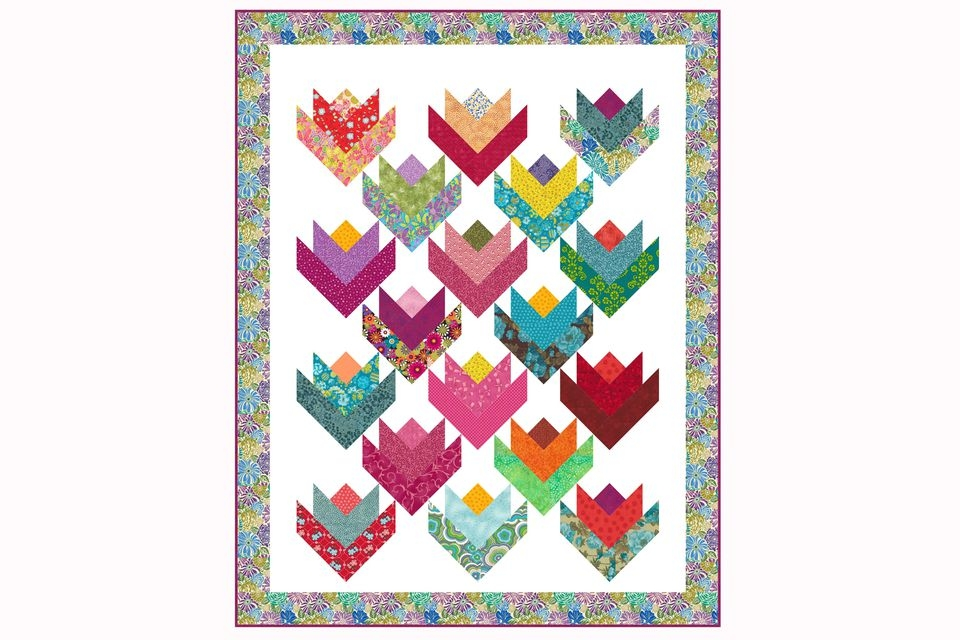 little tulips ba quilt pattern Make A Patchwork Tulip Quilt Block Patterns Gallery