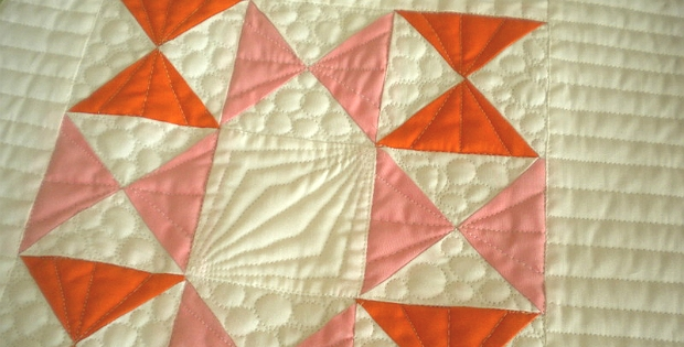 make four quarter square triangle blocks at a time Quarter Square Triangle Quilt Pattern