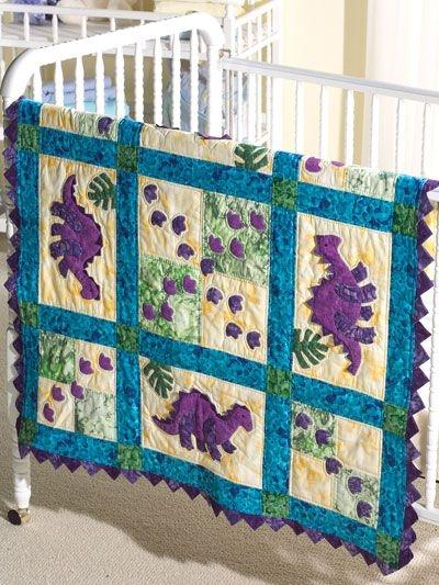 my dinosaur ba quilt the footprints of friendly little Elegant Applique Quilt Patterns For Babies