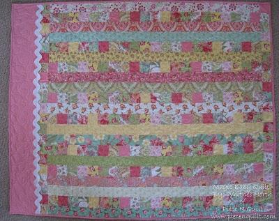 piece n quilt magic ba quilt tutorial Elegant Jelly Roll Baby Quilt Ideas Inspirations
