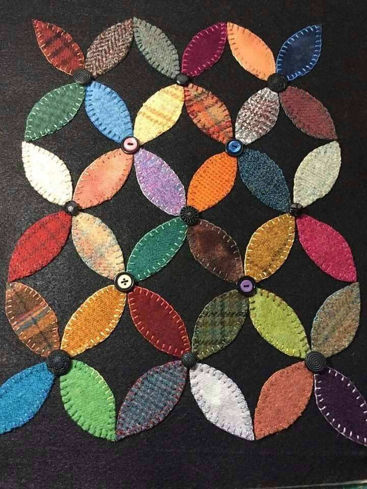 pin mary on projects to try wool applique quilts wool Modern Felted Wool Quilt Patterns Gallery