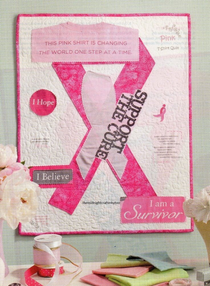 pink ribbon quilt pattern piecedapplique rp applique Unique Pink Ribbon Quilt Pattern Gallery