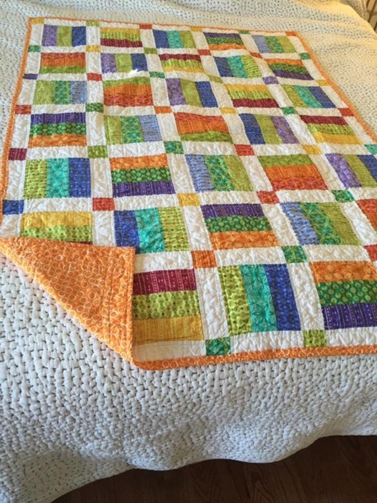projects from easy jelly roll quilt pattern 6 sizes bluprint Elegant Jelly Roll Baby Quilt Ideas Inspirations