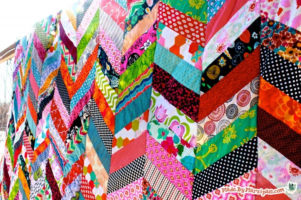 qayg chevron quilt tutorial made marzipan Stylish Chevron Quilt Pattern Using Jelly Roll
