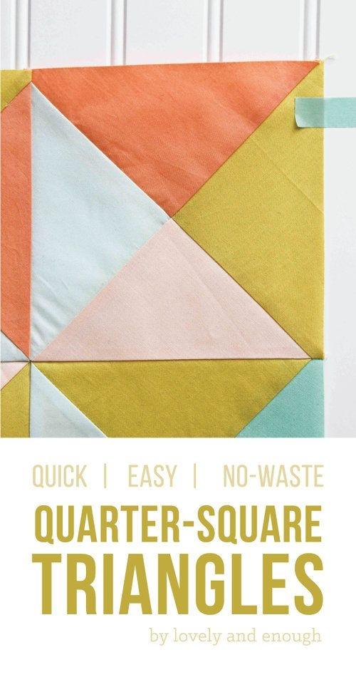 quarter square triangle tutorial quick easy no waste Quarter Square Triangle Quilt Pattern