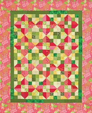 quilt patterns pink lemonade is a variation of piece Elegant Pink Lemonade Quilt Pattern