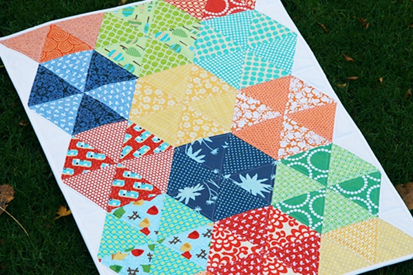 quilting with triangles part 3 design weallsew Cool Quilts With Triangles