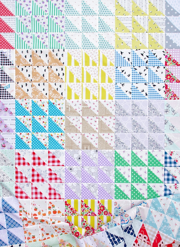 red pepper quilts retro half square triangle quilt ii Cozy Half Square Triangle Quilt Pattern