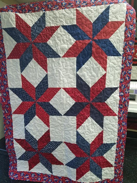 red white blue stars quilt patriotic quilts quilts Cozy Red White And Blue Quilt Patterns Gallery