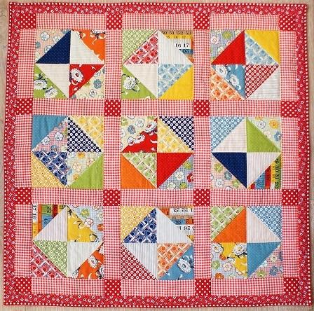 retro quarter square triangles quilt Modern Quarter Square Triangle Quilt Inspirations
