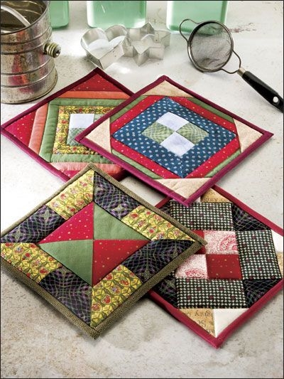 these colorful potholders will brighten any kitchen sewing Elegant Quilted Potholders Patterns Inspirations
