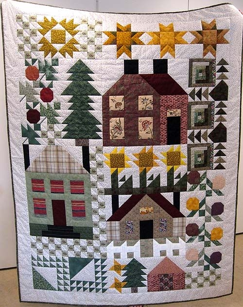 thimbleberry houses house quilt patterns quilts sampler Modern Thimbleberry Quilt Patterns Inspirations