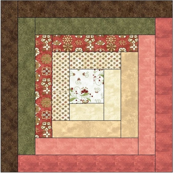traditional log cabin quilt block pattern download Interesting Log Cabin Quilt Patterns For Beginners