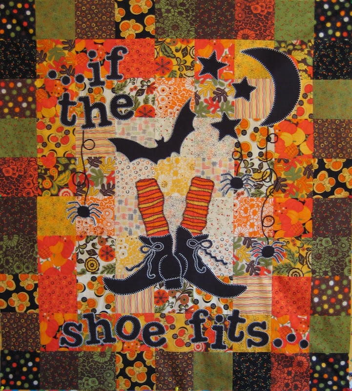 trick or treat halloween runner and frank n friends Cool Halloween Quilts Patterns Inspirations