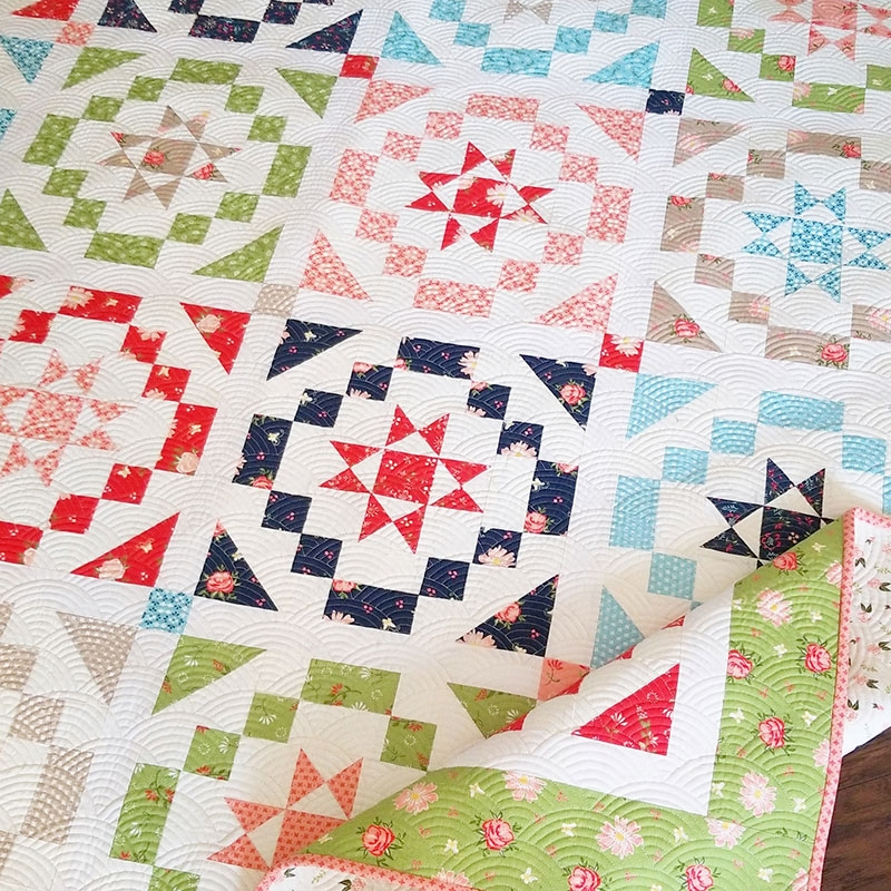 vintage charm fat eighth quilt a quilting life Cool Quilt Patterns Using Fat Eighths Inspirations