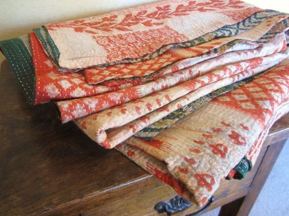 what is special in kantha quilts vintage kantha quilt Stylish Vintage Kantha Quilt Gallery