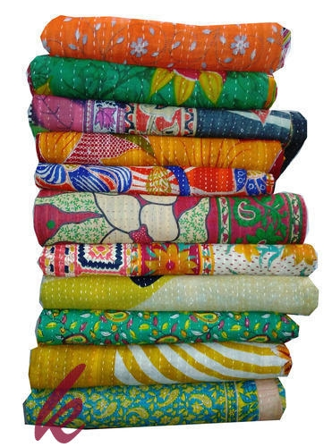 wholesale vintage kantha quilt reversible kantha bedcover authentic kantha throw Stylish Vintage Kantha Quilt Gallery