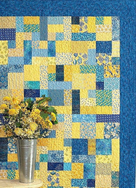 yellow brick road quilt pattern atkinson designs atk 126 fat quarter friendly pattern multi size quilt pattern easy quilt pattern Elegant Yellow Brick Road Quilt Pattern Inspirations