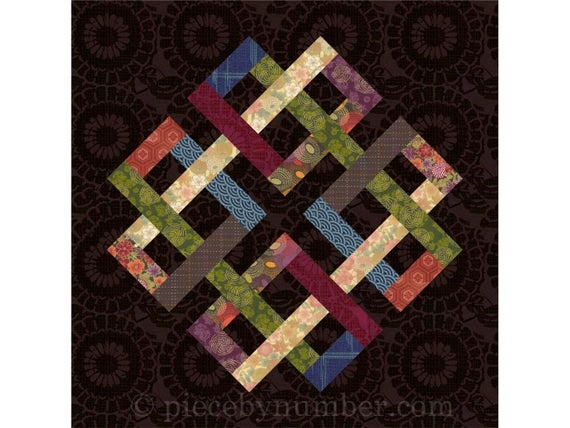 zentricity ii paper pieced quilt block pattern celtic knot quilt pattern medallion foundation piecing Venetian Chain Quilt Block