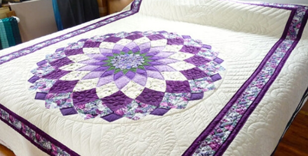 a striking giant dahlia quilt for spring or any time of year 10 Cozy Giant Dahlia Quilt Pattern Gallery