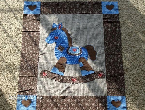 Cool gingham goose rocking horse pattern 1979 quiltingboard 10 Cool Rocking Horse Quilt Pattern