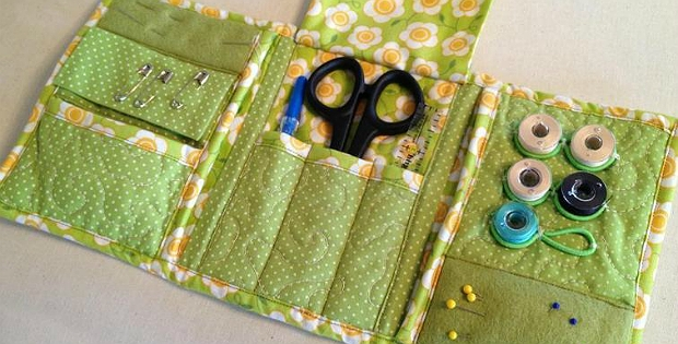 Cool make a handy little sewing kit from pretty fabric quilting 11 Unique Quilted Sewing Fabric Inspirations