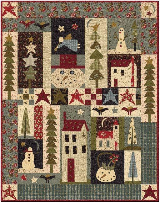 Cool pine tree ridge quilt pattern jan patek picture quilts Cozy Country Primitive Quilt Patterns Inspirations
