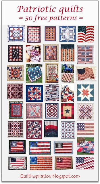 Cool quilt inspiration free pattern day patriotic and flag quilts 10   Patriotic Quilt Fabric Inspiration Gallery