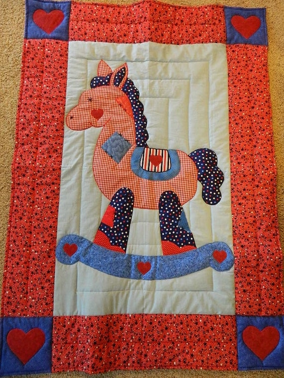 Cool rocking horse quilt red star 10 Cool Rocking Horse Quilt Pattern