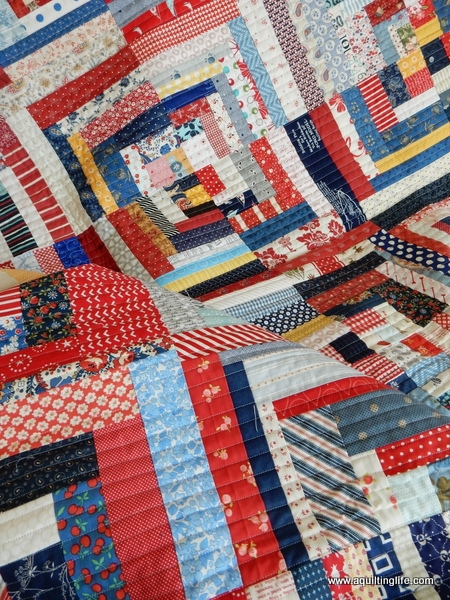 Cool scrappy log cabin quilt a quilting life 9   Scrappy Log Cabin Quilt Pattern