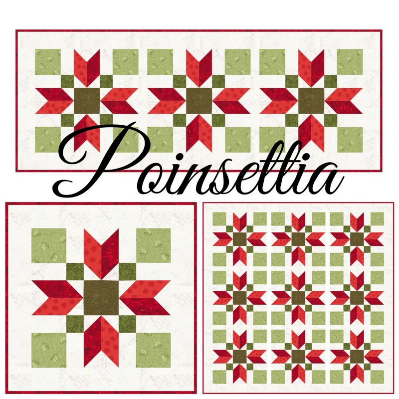Cool sew fresh quilts poinsettia 11 Stylish Poinsettia Quilt Pattern Inspirations
