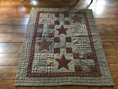 country primitive star pattern quilt brown burgundy quilt Cozy Country Primitive Quilt Patterns Inspirations
