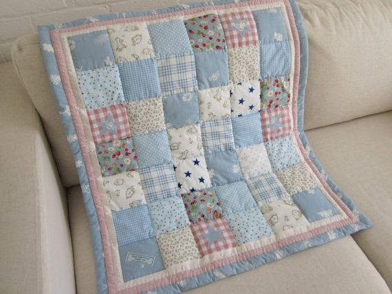 Cozy handmade ba patchwork cot quilt throw comforter 11 Stylish Cot Patchwork Quilt Patterns