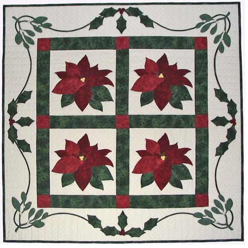 Cozy poinsettia garden quilt pattern 11 Stylish Poinsettia Quilt Pattern Inspirations