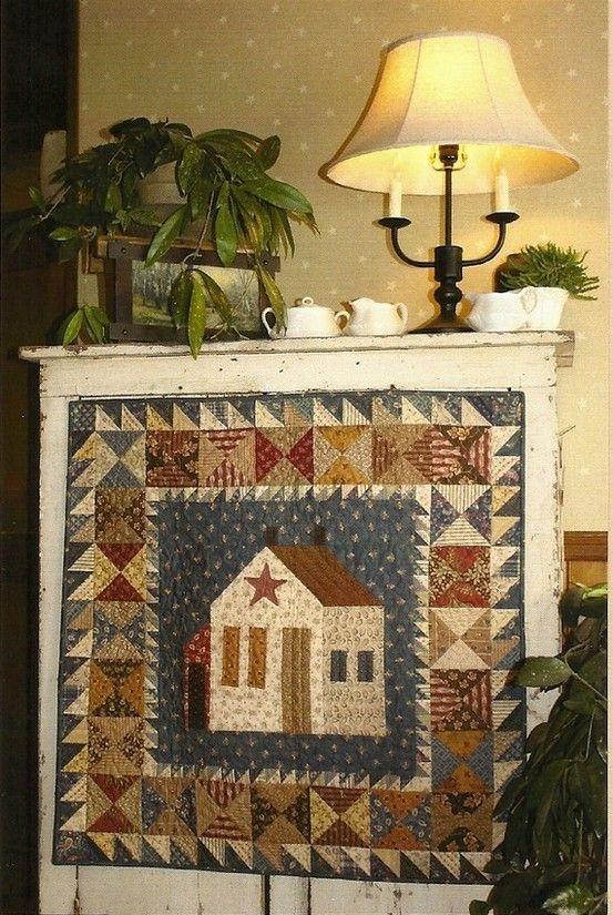 Cozy primitive folk art wall quilt pattern this Cozy Country Primitive Quilt Patterns Inspirations