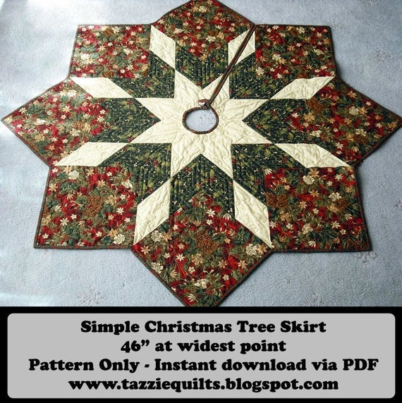 Cozy quilted christmas tree skirt pattern Cozy Quilted Tree Skirt Pattern Inspirations