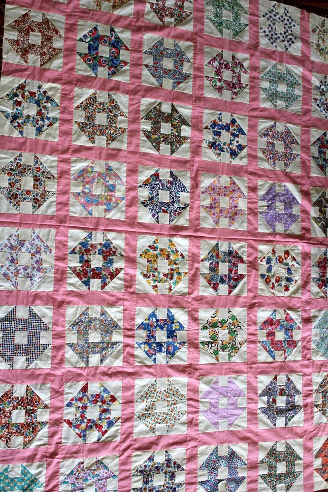 Cozy vintage 1920s 1930s quilt top 66 inches x 90 inches with 11 Cool 1920'S And 1930'S Vintage Quilt Patterns