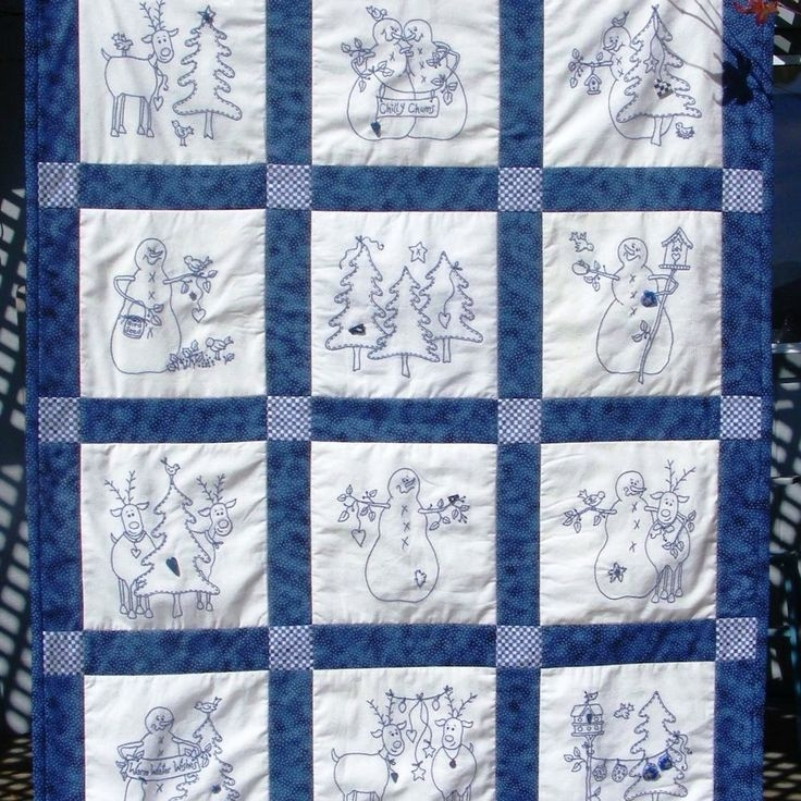 Elegant christmas hand embroidery quilt patterns redwork 10 Cool Hand Embroidery Quilt Patterns