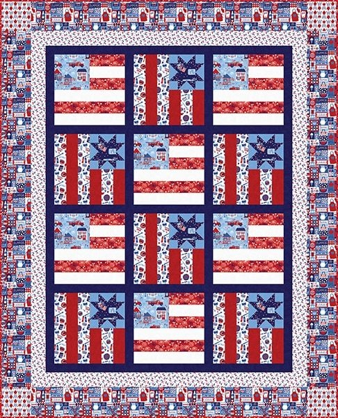 Elegant fabric lines shipping now patriotic parade studio e 10   Patriotic Quilt Fabric Inspiration Gallery