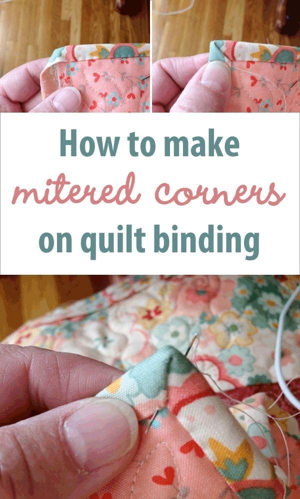 Elegant how to make mitered corners on quilt binding quilt binding 10 Beautiful Sewing Binding On Quilt Corners